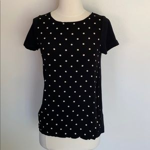 VGUC Madewell Hi-Line polka dot t-shirt, sz XS